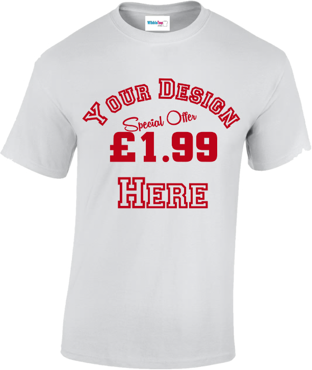 £1.99 promotiona/event t-shirt