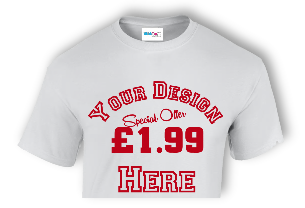 £1.99 promotional t-shirts